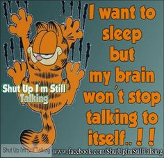 Shut Up Im Talking Quotes and Sayings with Funny Pictures Garfield Quotes, Garfield Cartoon, Garfield And Odie, Garfield Comics, Garfield Pictures, Need Sleep, I Cant Sleep, Smile Thoughts, Talking Quotes