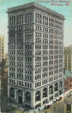 Baltimore Maryland MD 1912 Continental Trust Building Antique Vintage Postcard