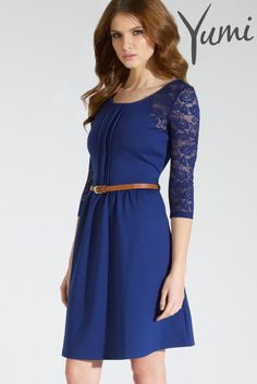 Buy Yumi Lace And Pleat Dress from the Next UK online shop