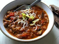 Chili, Vegan Recipes, Food And Drink, Red Peppers, Chile, Chilis, Vegane Rezepte
