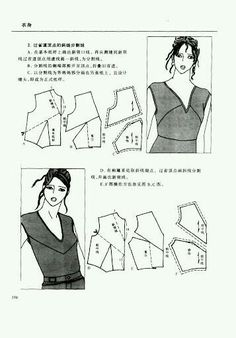 Chinese method of pattern making- Darts on a bodice - Svet Lana - Picasa Albums Web Diy Clothing, Clothing Patterns, Dress Patterns, Sewing Patterns, Bodice Pattern, Collar Pattern, Tailoring Techniques, Sewing Techniques, Pattern Cutting