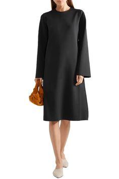 Black Elmi scuba dress | Sale up to 70% off | THE OUTNET | THE ROW | THE OUTNET Dresses For Sale, Dress Sale, Scuba Dress, World Of Fashion, Luxury Branding, The Row, Dress Outfits, High Neck Dress, Slip On