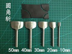 Free Shipping Leather Tools 10-50mm Diy Leather Punch/Shallow Round Circle Leather Craft DIY Belt Strap Wallet End Punch Tool(China (Mainlan...
