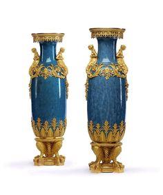 Napoleon III vases byAlfred Beurdeley.