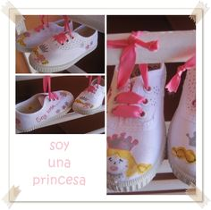M de glaMour  #zapatillas #pintura #princesas #handmade #bambas