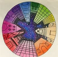 Image result for one point perspective coloring page