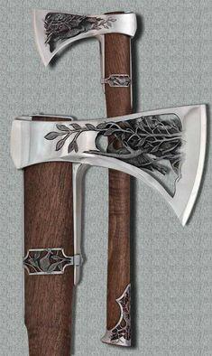The Viking Minuteman More, halfborn gunderson aesthetics Cool Knives, Knives And Swords, Vikings, Lame Damas, Beil, Viking Axe, Viking Sword, Battle Axe, Medieval Weapons