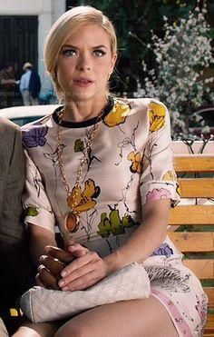Lemon's floral dress on Hart of Dixie.  Outfit Details: http://wornontv.net/47061/ #HartofDixie