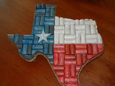 Red, white and blue cork Texas