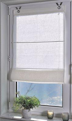 weiße lichtdurchlässige Raffrollos für moderne Küche | Gardine ...