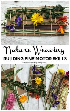 Nature Weaving - Forest SchoolYou can find Forest school and more on our website. Forest School Activities, Nature Activities, Outdoor Activities For Kids, Outdoor Learning, Learning Activities, Preschool Activities, Crafts For Kids, Nursery Activities, Outdoor Classroom