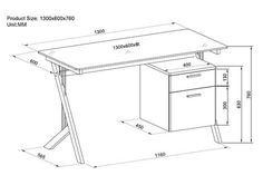standard desk measurements - Google zoeken
