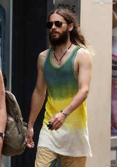 Jared Leto à Saint-Tropez, le 20 juillet 2014.