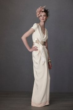 and here i thought i hated short sleeved gowns. $1400, bhldn