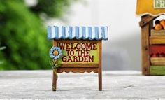 Mini World Country Design Welcome Sign