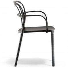 Intrigo 3715 Pedrali chaise 4 pieds - Noire
