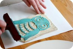 Block Printing on fabric simple instructions