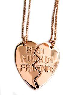 Best Fuckin Friends Necklace (Rose Gold) $29.95
