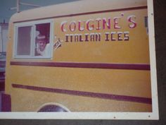 The original Esposito Water Ice truck, 1972. The first pioneer of Italian Water Ice.