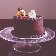 Rooster and hen cake