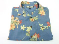 Tommy Bahama S Men's Floral Bikini Pin-Up Hawaiian Aloha 100% Silk Shirt Small #TommyBahama #Hawaiian
