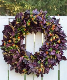 Autumn Wreath via Etsy (out of stock)