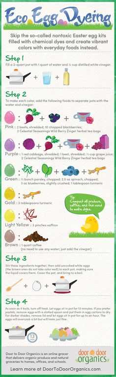 Go Eco When Easter Egg Dyeing Infographic. This looks like something fun to try!