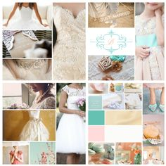 My wedding theme colours - ivory, champagne and white with a touch of Tiffany Blue and Blush Champagne Wedding Themes, Blue And Blush Wedding, Blush Wedding Colors, Summer Wedding Colors, White Wedding Dresses, Tiffany Blue Weddings, Tiffany Blue Color, Theme Color, Wedding Inspiration