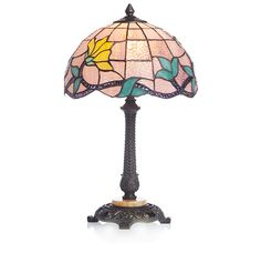 """20.25"""" H Stained Glass Bouquet Remembrance Table Lamp