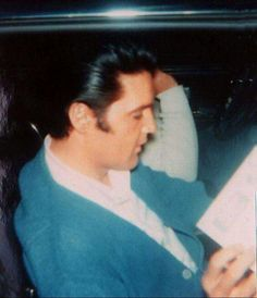 April 9, 1968  - Elvis At His Home in L.A. when working on his film 'Live A Little, Love A Little'  at the time.