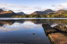 Isthmus Bay, Old Jetty, Boathouse, Derwent Water, Keswick, Lake District, Cumbria, England