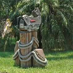 Fish and dock posts mailbox