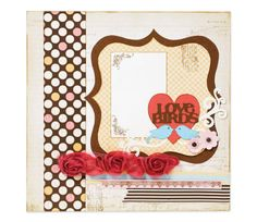 "12""x12"" Love Birds Scrapbooking Page by Cricut®"