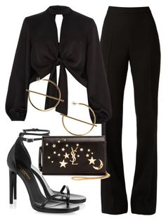 A fashion look from August 2017 featuring River Island tops, Giambattista Valli pants y Yves Saint Laurent sandals. Browse and shop related looks. Kpop Fashion Outfits, Girls Fashion Clothes, Edgy Outfits, Mode Outfits, Cute Casual Outfits, Look Fashion, Korean Fashion, Fashion Quiz, Classy Fashion
