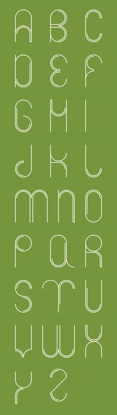 Circle font by Karolien Pauly, via Behance