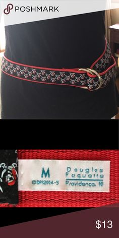 David Paquette Belt with Pirates! David Paquette Belt with Pirates! Cotton, fun, excellent condition. David Paquette  Accessories Belts