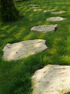 how to embed paving stone into lawn