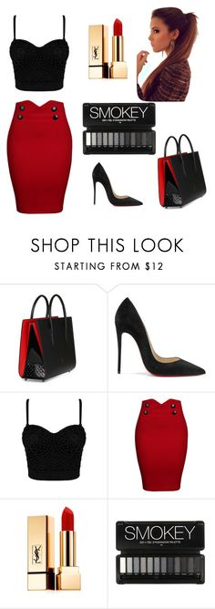 """Is It Valentine yet?"" by shaymajabri ❤ liked on Polyvore featuring Christian Louboutin, WithChic and Yves Saint Laurent"