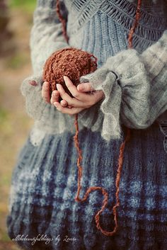 wool & autumn just beautiful Pull Crochet, Knit Crochet, Wooly Bully, Mori Girl, Looks Style, Blue Brown, Blue Grey, Shades Of Blue, Warm And Cozy