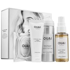 This well-edited set is perfect for travel or sampling a few of OUAI's hero products.