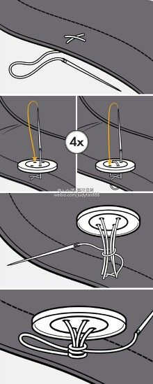 How to correctly sew a button :)