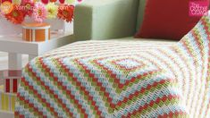 Learn how to make this Cottage Throw, a free pattern by Yarnspirations.