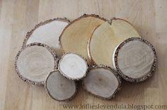 Kifli és levendula: Őszi dekoráció fatörzsszeletből