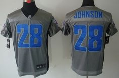 Nike Tennessee Titans #28 Chris Johnson Gray Shadow Elite Jersey