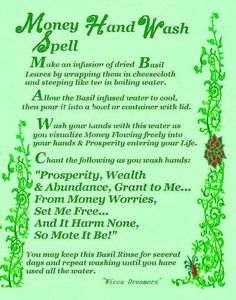 Money Hand Wash Spell……Printable Spell Pages. Extremely powerful good money spell, Pagan wish spells that work instantly, Wicca spells for money and prosperity Powerful Money Spells, Money Spells That Work, Hoodoo Spells, Magick Spells, Wiccan Spells Money, Wiccan Magic, Witchcraft Spells, Healing Spells, Tarot