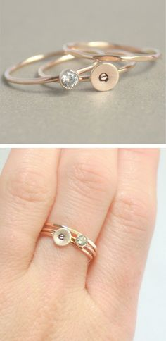 Stacked initial ring
