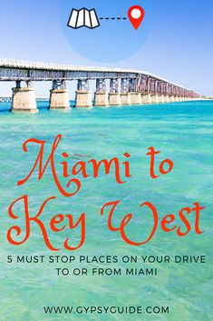 The Overseas Highway from Miami along the Florida Keys - elegant bridges span glittering expanses of blue water. We list the top 5 places on the GyPSy Guide Driving Tour App. Florida Vacation Spots, Florida Travel, Travel Usa, Greece Vacation, Family Vacation Destinations, Florida Beaches, Dream Vacations, Travel Destinations, Key West Vacations