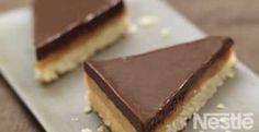Triángulos de chocolate y caramelo #recetas #nestlecocina