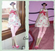 """El rincón de Chelo: Tutorial-""""Tilda Flowergarden Angel"""""""