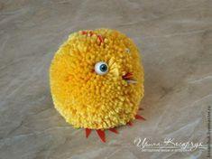 """Master class: """"Easter chickens from pompons"""" - a master class for beginners and professionals Easter Gifts For Kids, Easter Crafts, Crafts For Kids, Easter Ideas, Pom Pom Animals, Master Class, Games For Kids, Crochet Earrings, Projects To Try"""